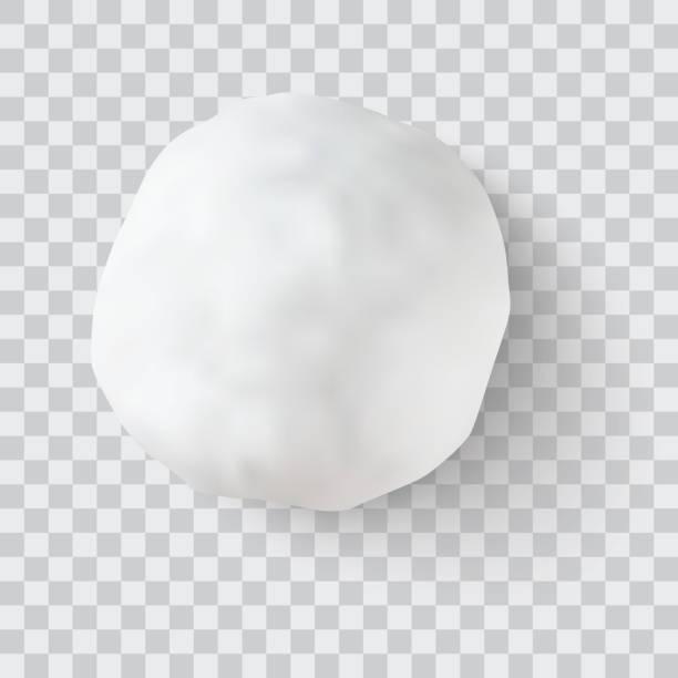illustrazioni stock, clip art, cartoni animati e icone di tendenza di snowball vector illustration - grandine vector