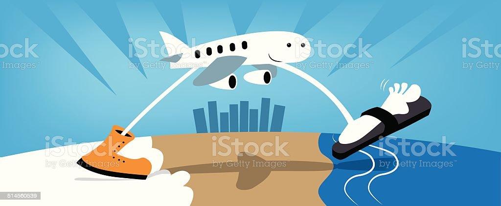 Snowbirds vector art illustration