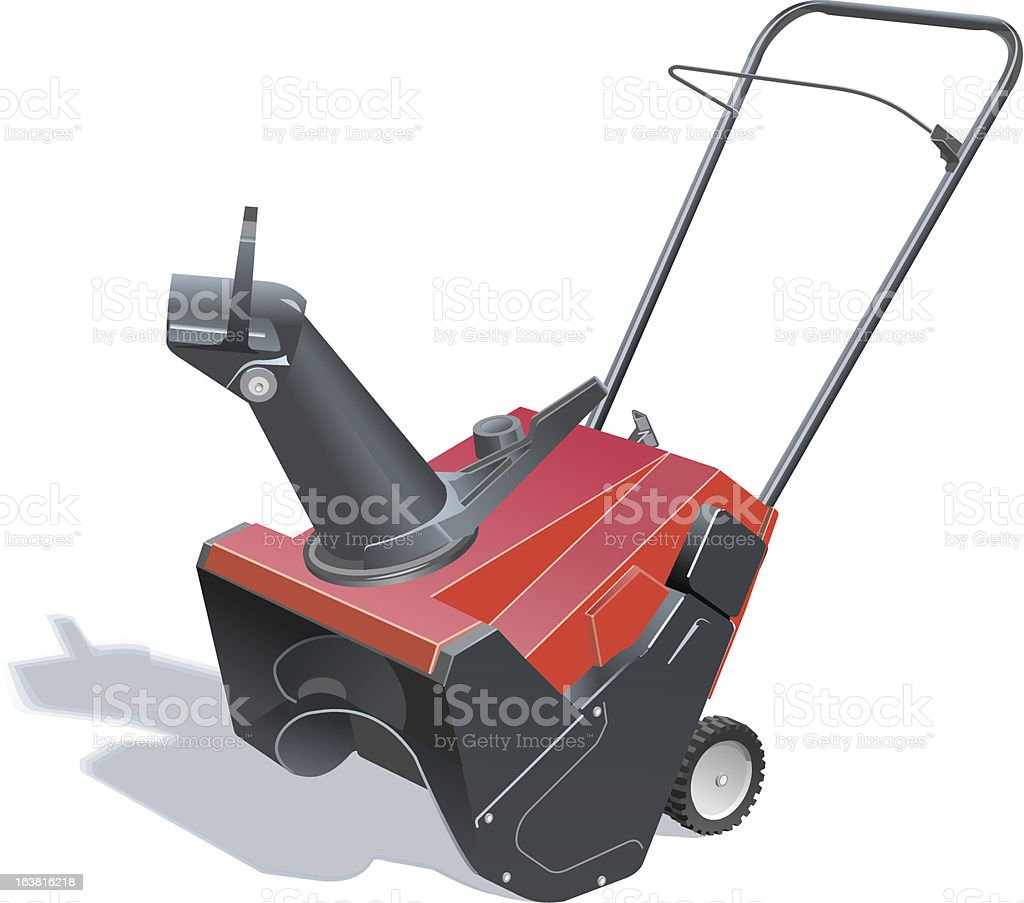Snowblower vector art illustration