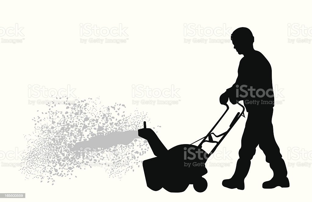 Snowblower Vector Silhouette vector art illustration