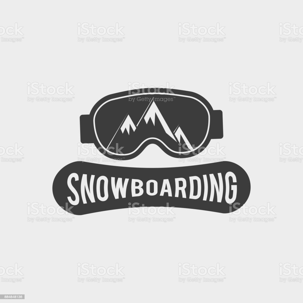 snowboard club icon label or badge template snowboarding symbol with
