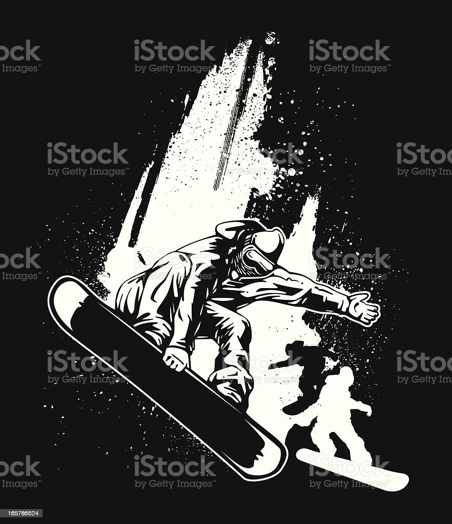 Snowboard Design vector art illustration