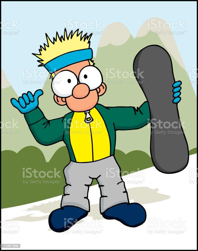 Snowboard Dude 1 royalty-free stock vector art