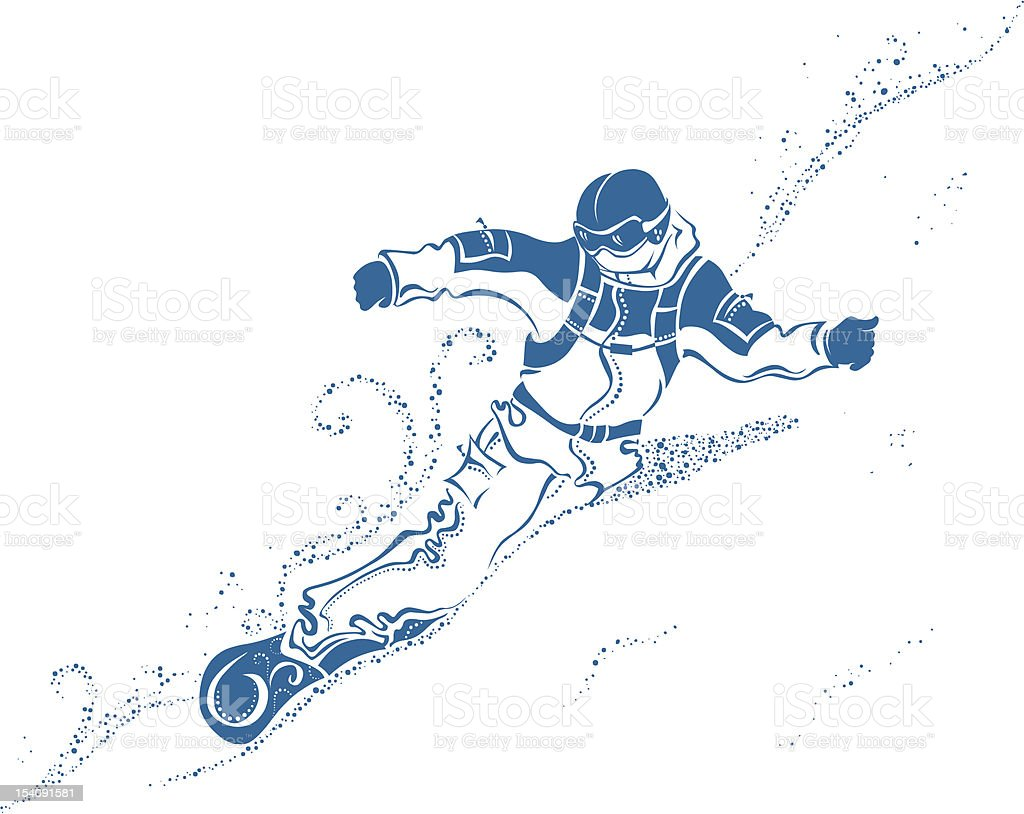 Snowboard Extreme vector art illustration