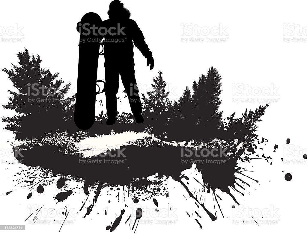 Snowboard grunge royalty-free snowboard grunge stock vector art & more images of black and white