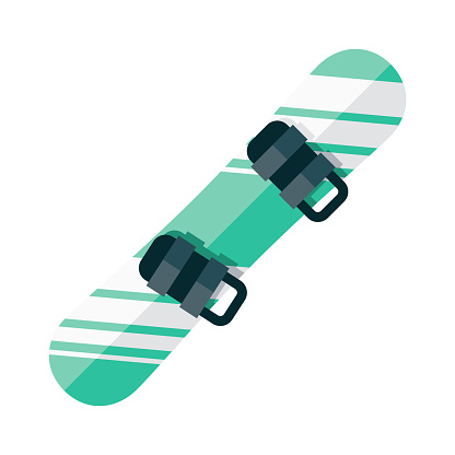 Snowboard Icon on Transparent Background