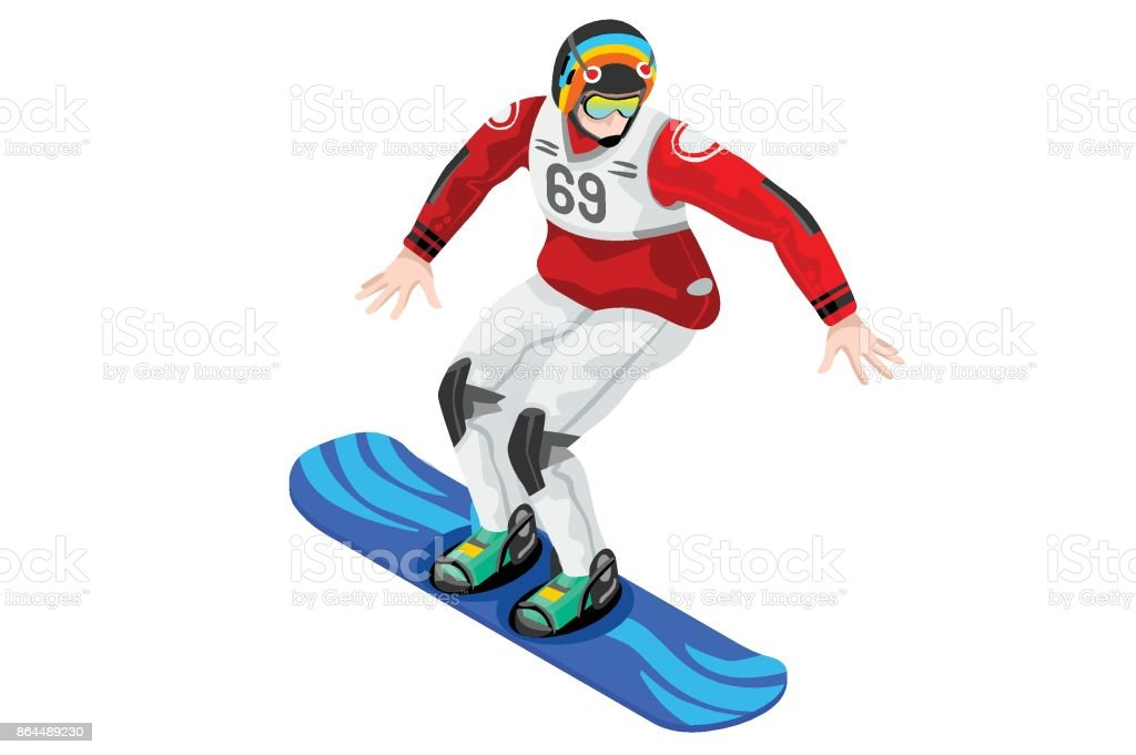 Snowboard Icon Winter Sports vector art illustration