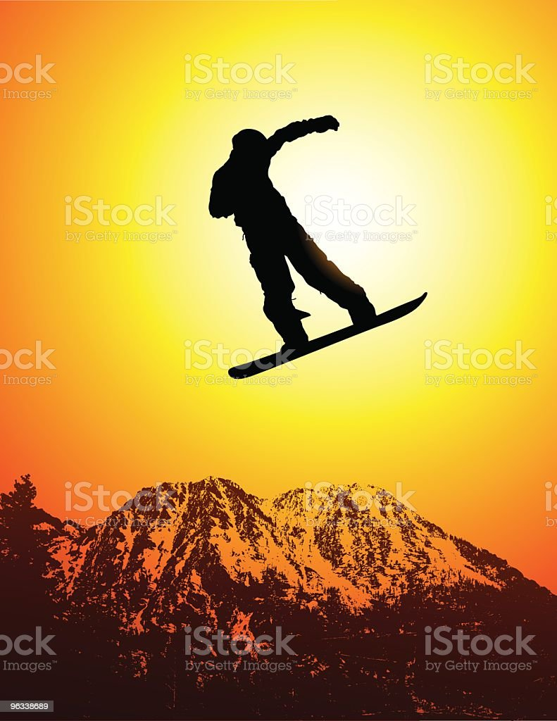 Snowboard Jump royalty-free snowboard jump stock vector art & more images of art