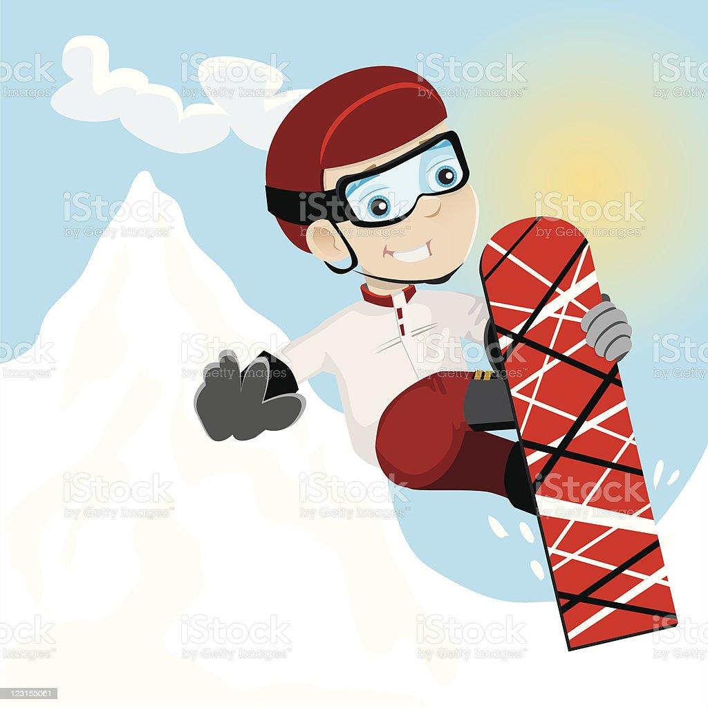 Snowboard Kid royalty-free stock vector art