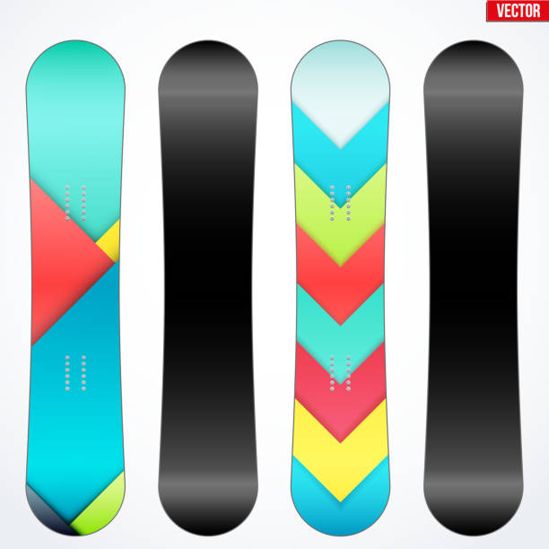 Top 30 Snowboard Design Template Clip Art Vector Graphics And