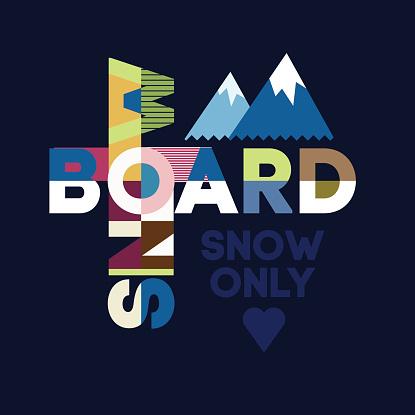 Snowboard typography