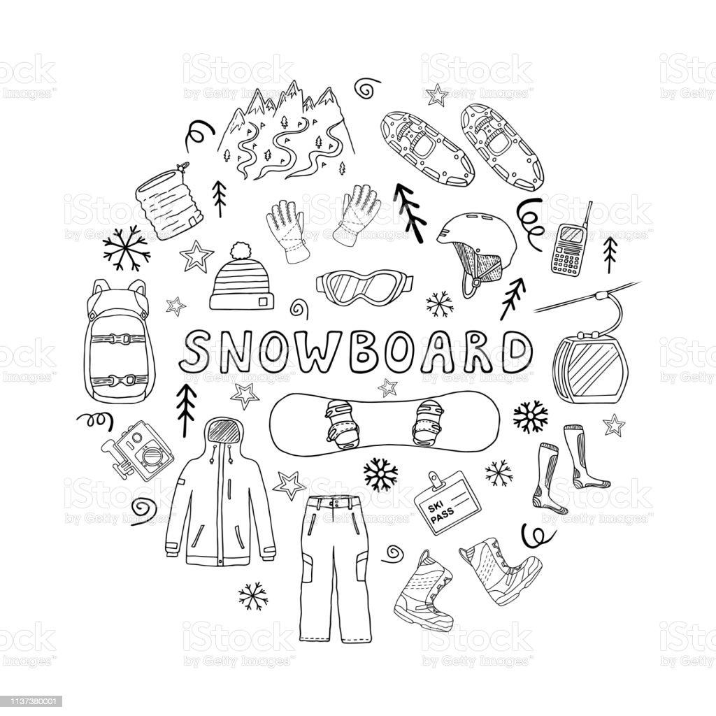 a3b7663cd Ícones do vetor do snowboard no círculo vetor de ícones do vetor do  snowboard no círculo