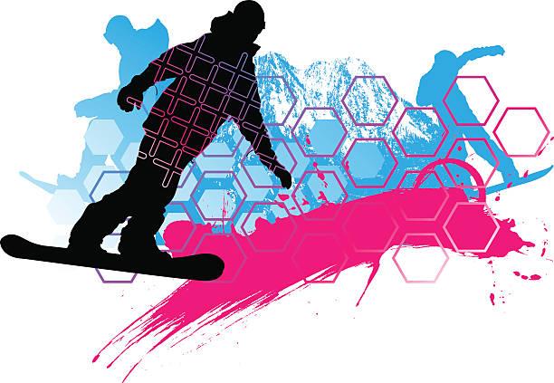 Snowboardzistka, skład – artystyczna grafika wektorowa