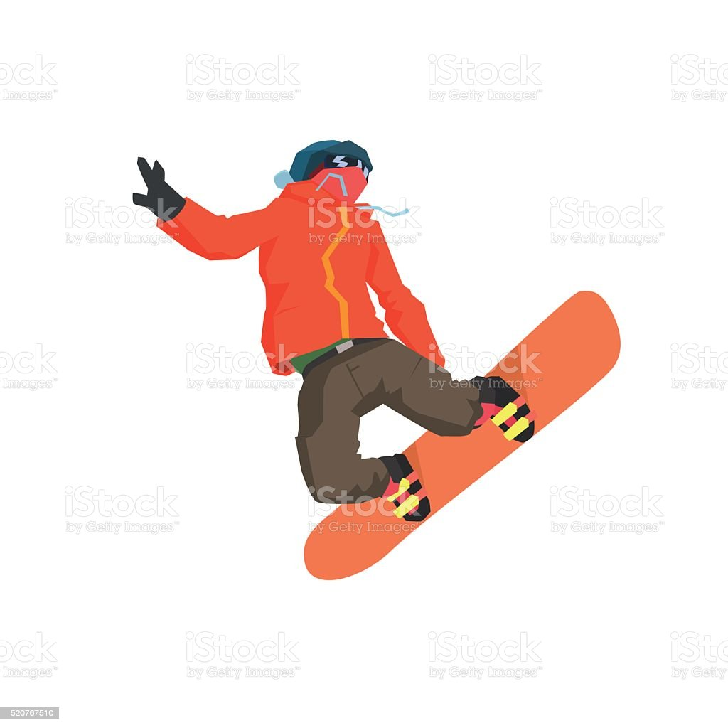Snowboarder Mid-air Illustration vector art illustration