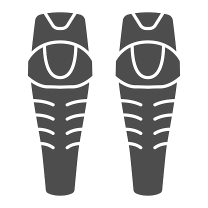 Snowboarder Protectors solid icon, World snowboard day concept, Ski arm protectors sign on white background, Skateboarding or snowboarding pads icon in glyph style. Vector graphics.