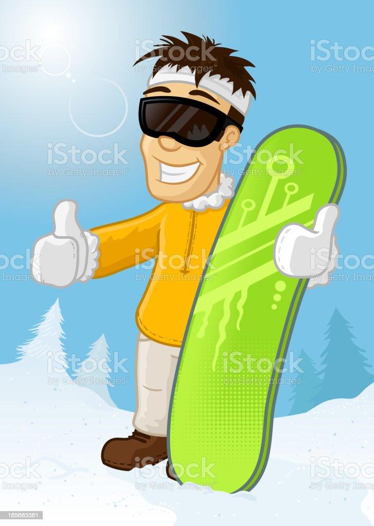 Snowboarder royalty-free stock vector art