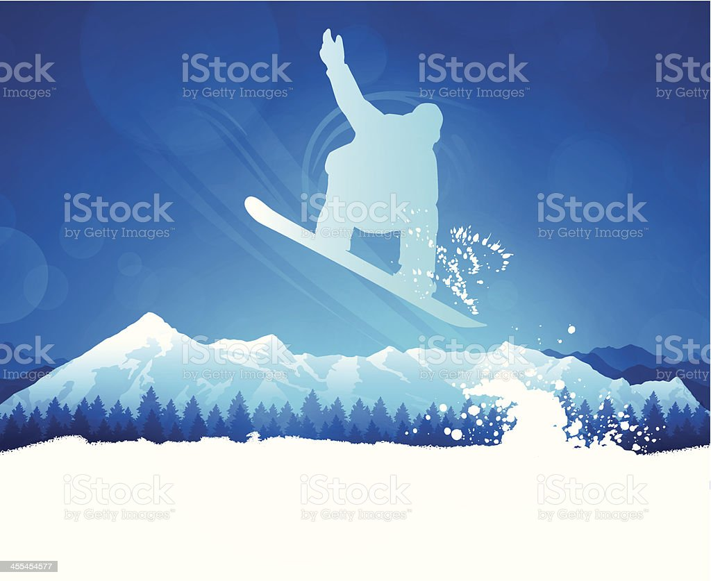 Snowboarder vector art illustration