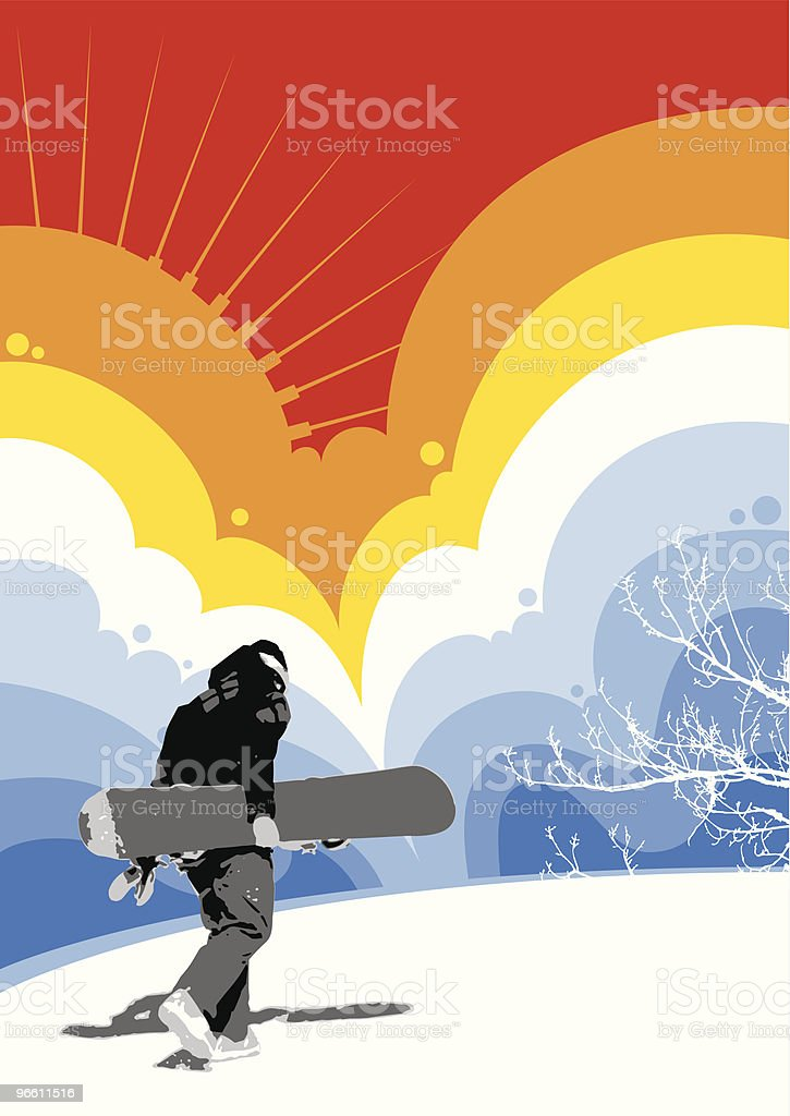 Snowboarder - Royalty-free Adult stock vector