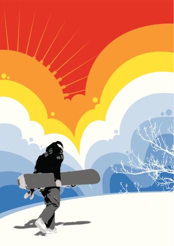 Snowboarder Stockvectorkunst en meer beelden van Alleen mannen