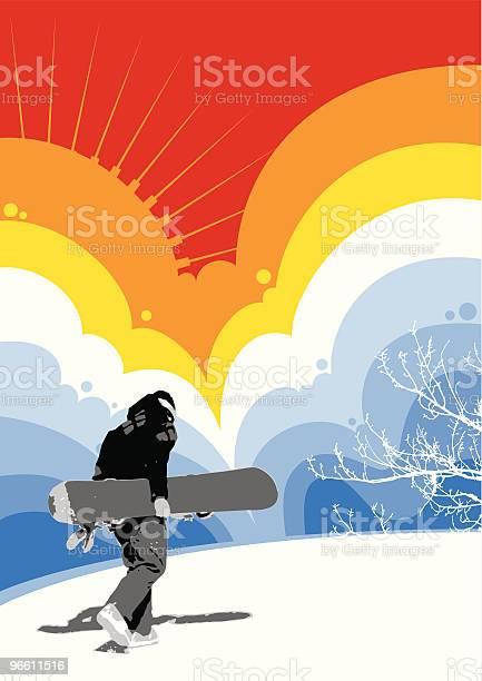 Snowboarder-vektorgrafik och fler bilder på Bakgrundsfokus