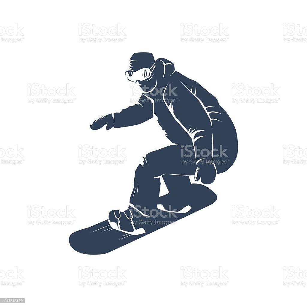 Snowboarder vector illustration vector art illustration