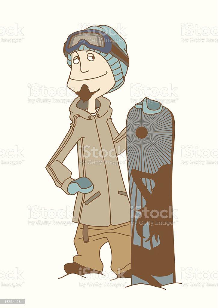 SnowBoarder_Man royalty-free stock vector art