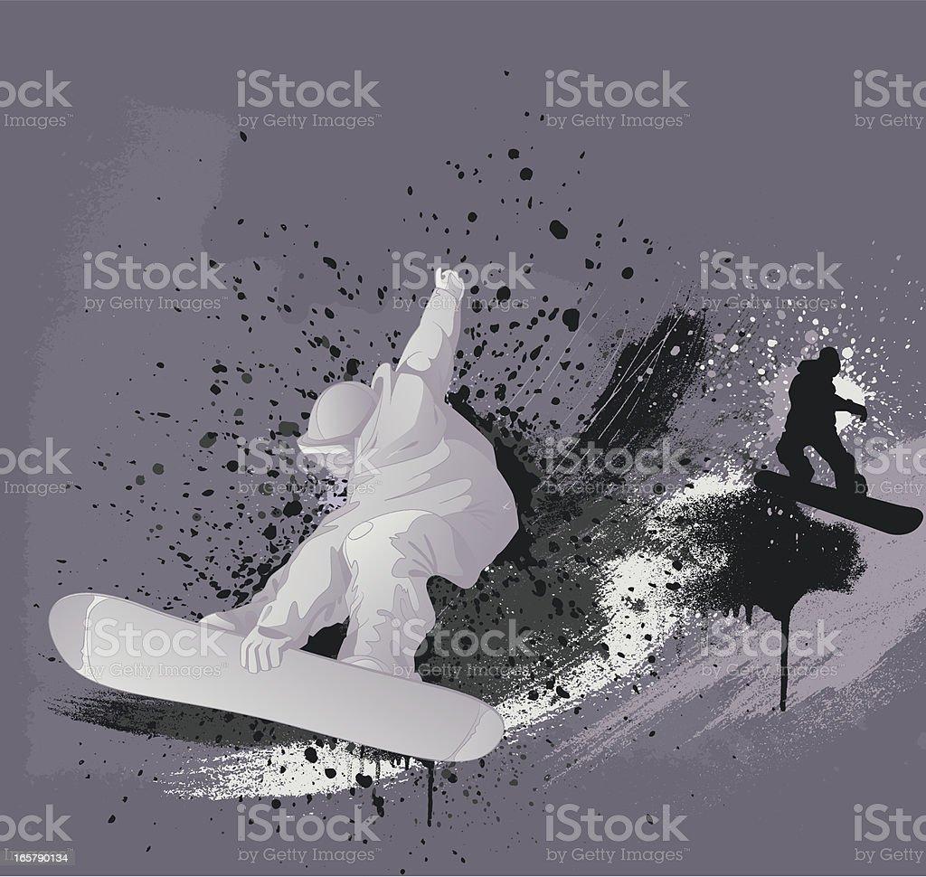 Snowboarding design vector art illustration