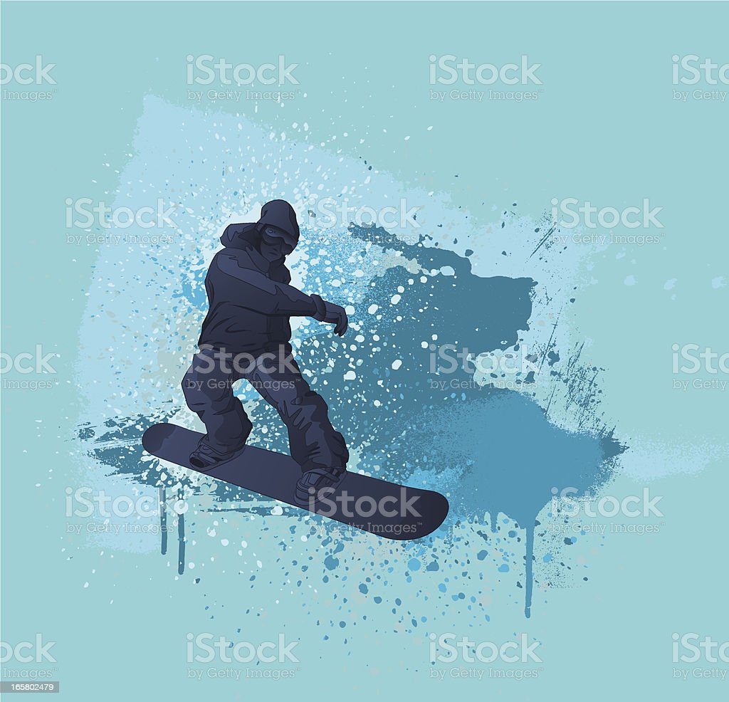 Snowboarding Design vector art illustration