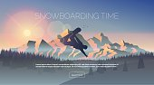 Snowboarding themed web banner.
