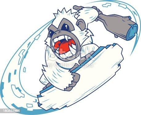 istock snowboarding Yeti 180834966