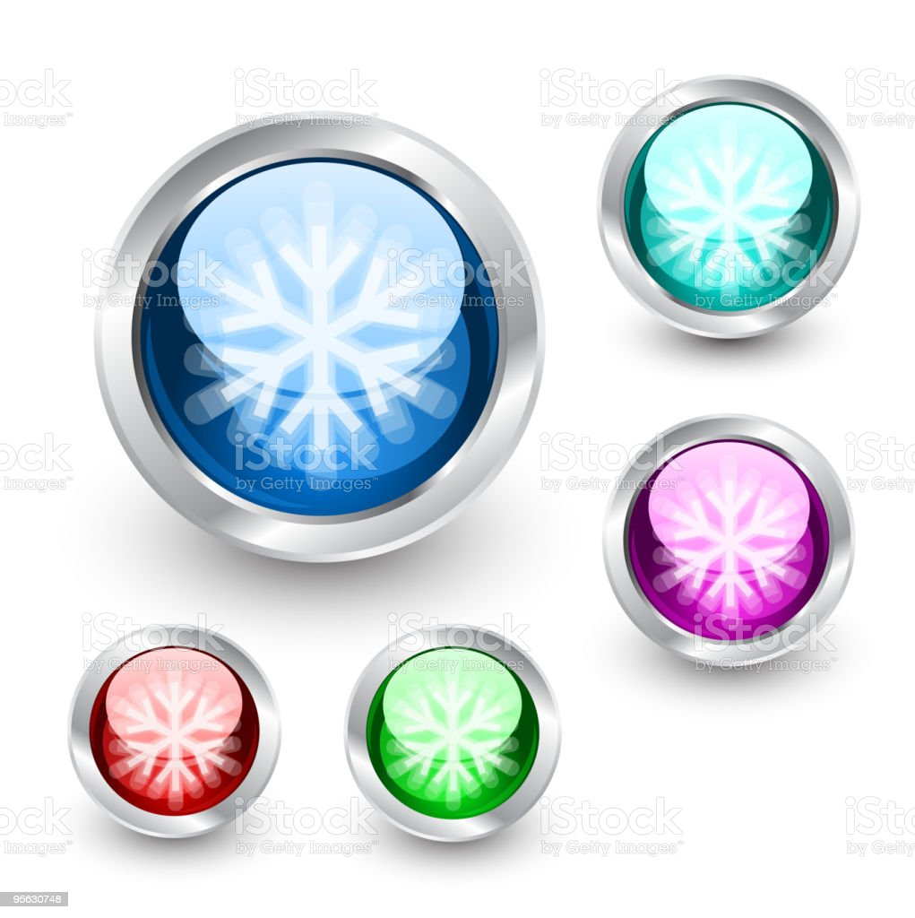 Snow-buttons royalty-free snowbuttons stock vector art & more images of abstract