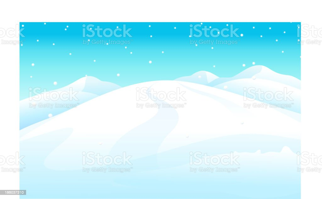snowcapped Mountain royalty-free stock vector art