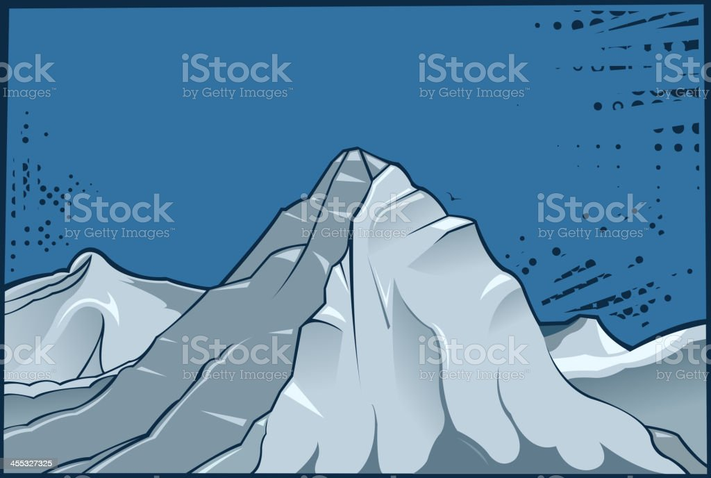 snowcapped royalty-free stock vector art