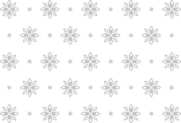 Schneeglöckchen, schwarz-weiß Strichzeichnungen – Vektorgrafik