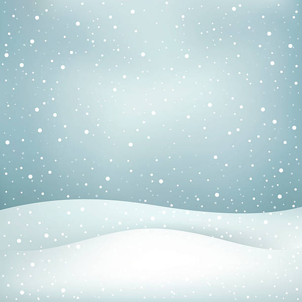 snowfall background The winter snowfall, blue daytime sky and snowdrift Christmas background snowdrift stock illustrations