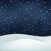 snowfall night background