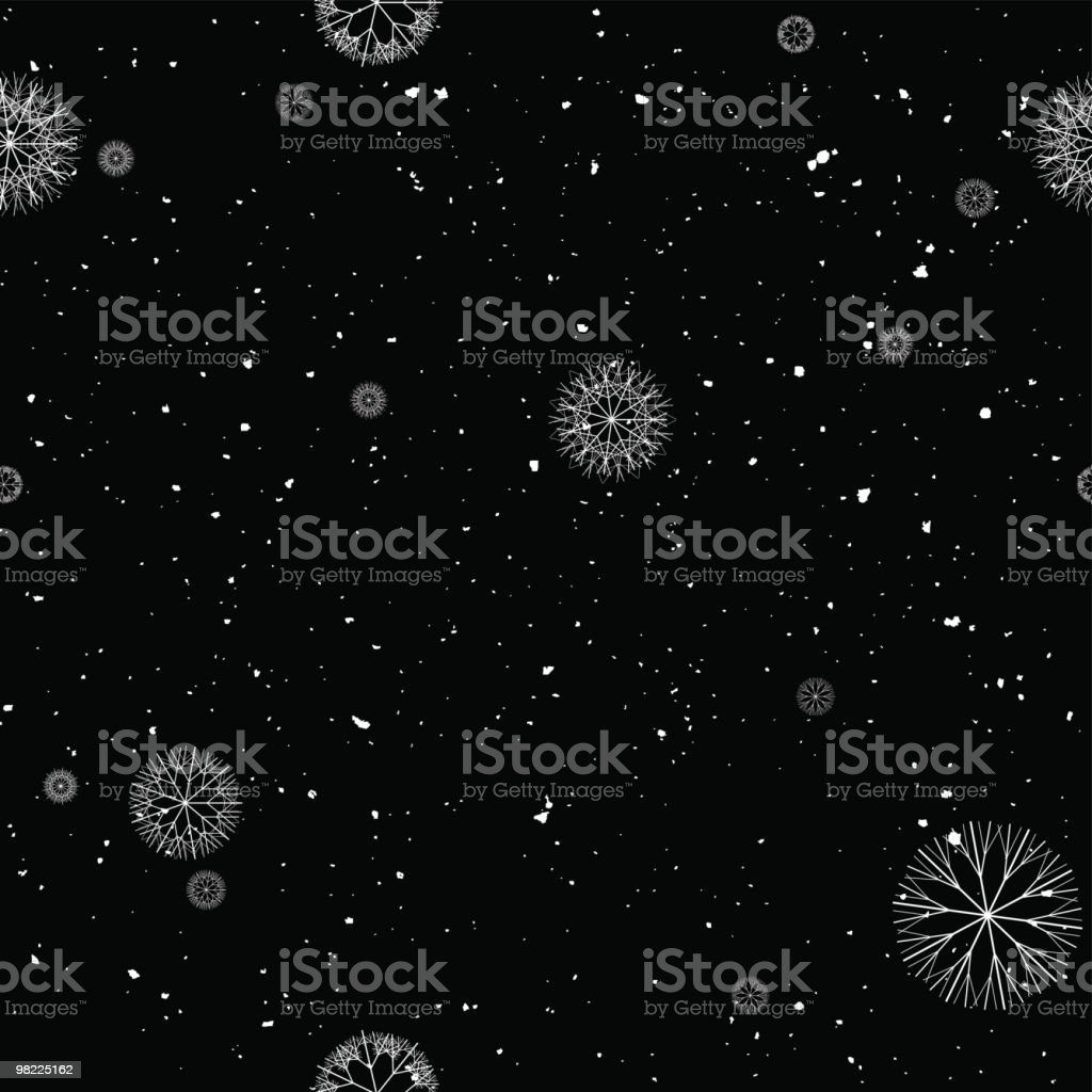 Snowfall - Seamless Repeat royalty-free snowfall seamless repeat stock vector art & more images of backgrounds