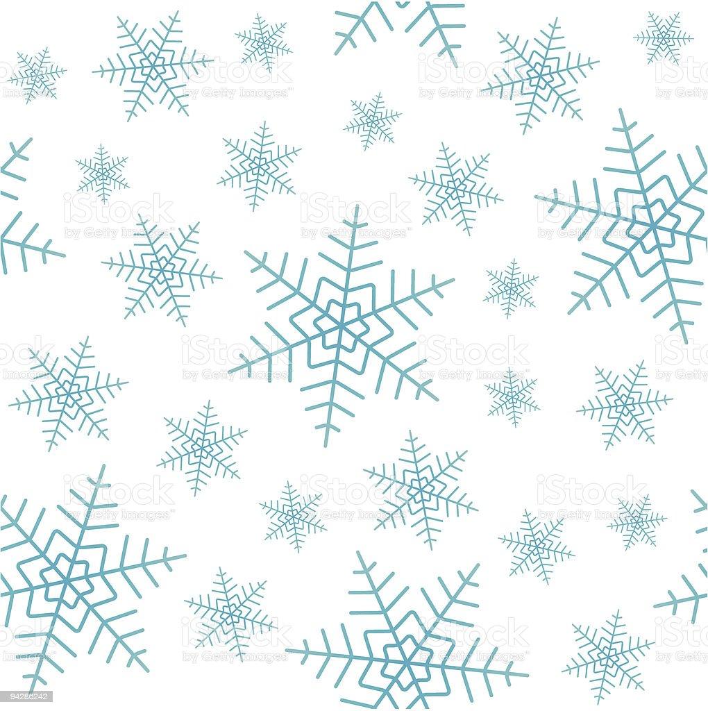 Snowfall seamless vector wallpaper royalty-free stock vector art