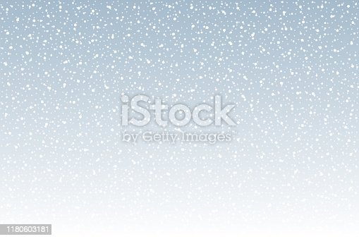 Snowfall - Tranquil scene vector background