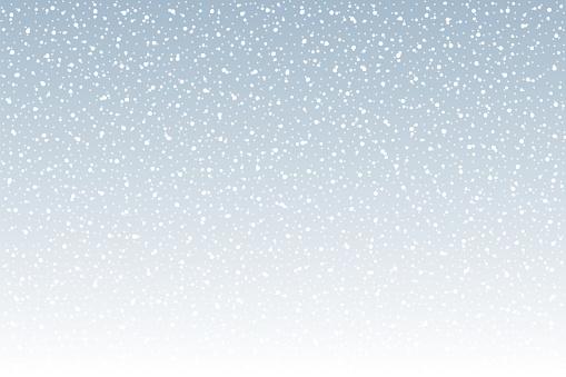 Snowfall - Tranquil scene vector background