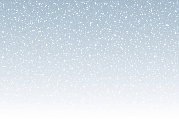 stockillustraties, clipart, cartoons en iconen met sneeuwval vector achtergrond - snowing