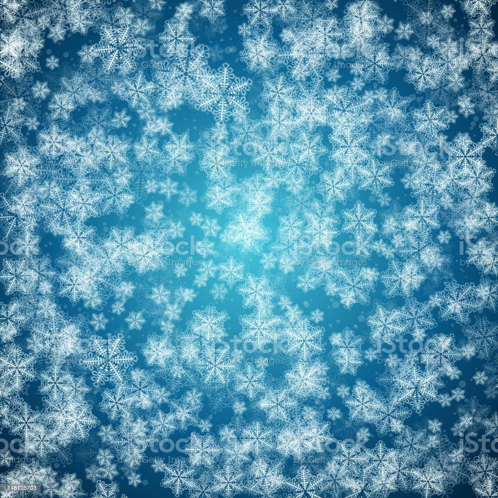 Snowfall royalty-free stock vector art