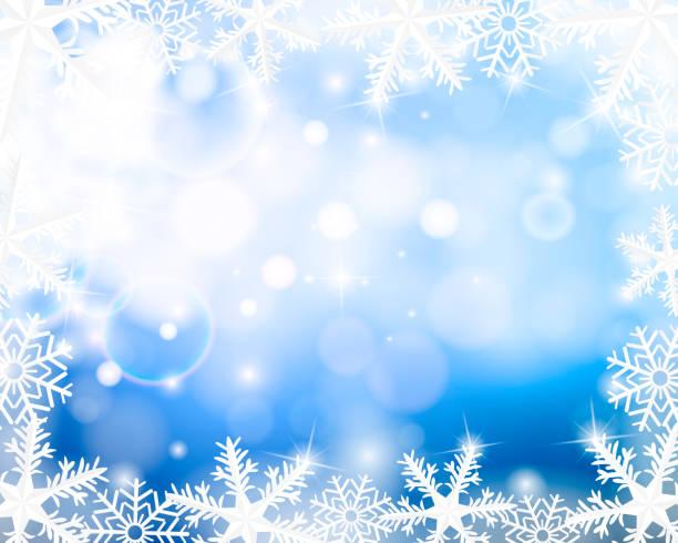 Schneeflocke Hintergrund – Vektorgrafik
