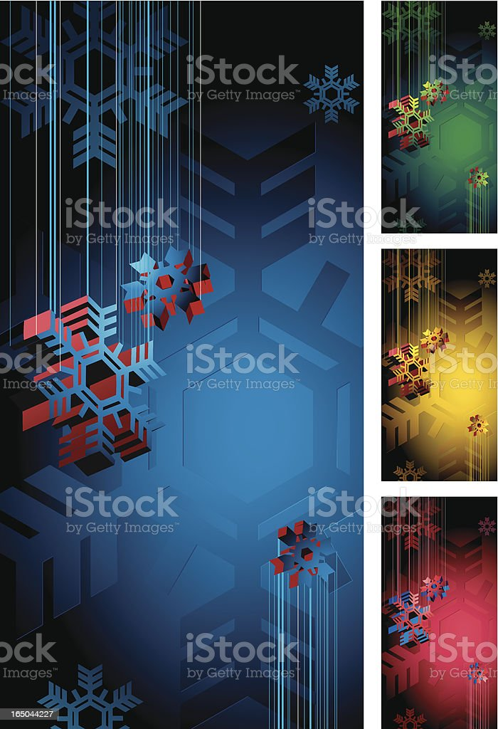 Snow-flake background royalty-free stock vector art
