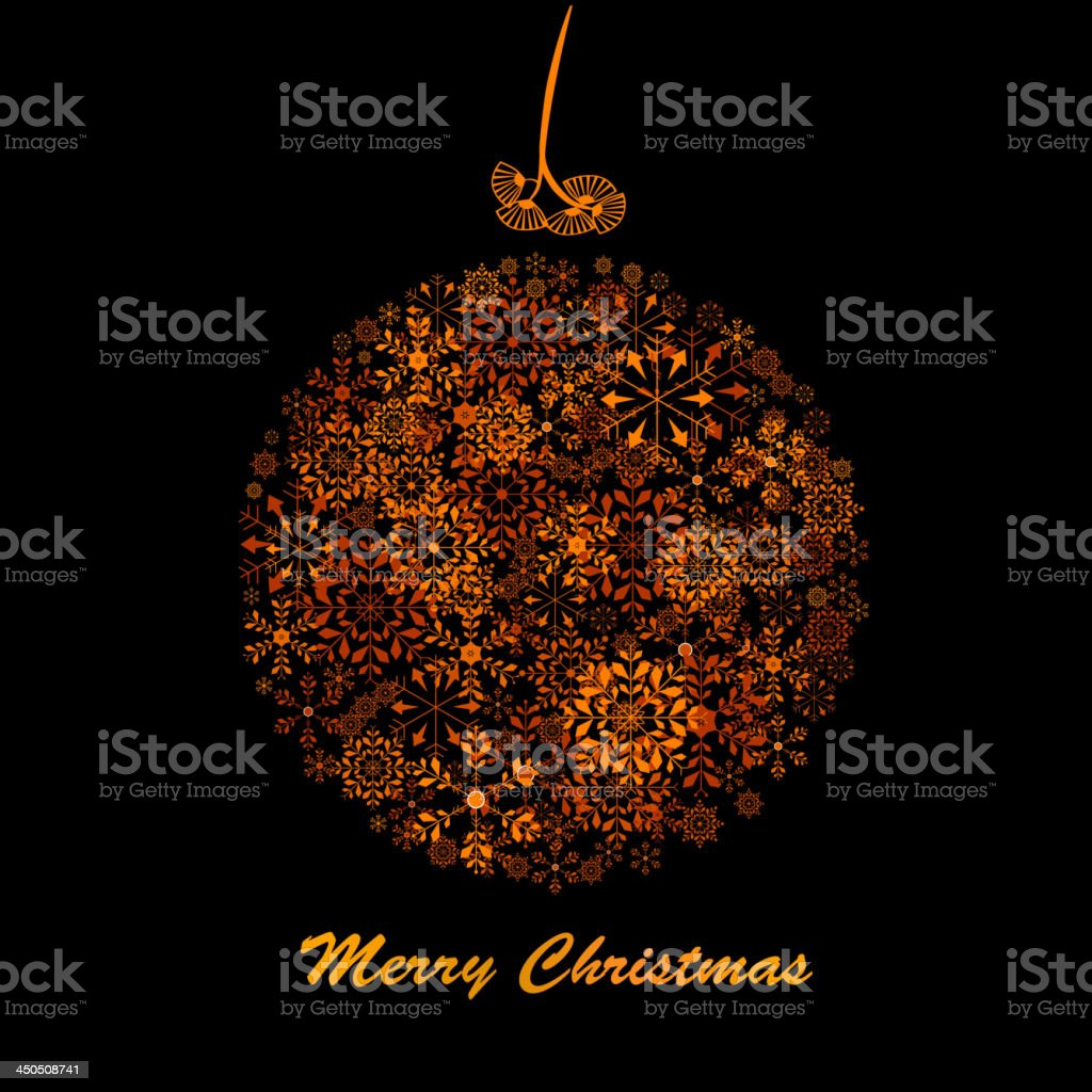 snowflake ball vector art illustration
