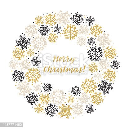 istock Snowflake Banner for Winter Holidays 1187771460
