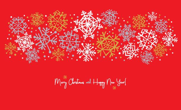 Snowflake Banner for Winter Holidays vector art illustration