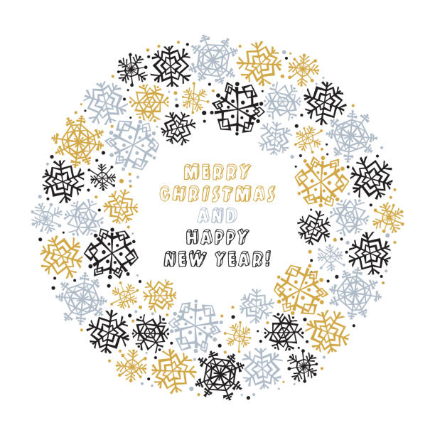 Snowflake Banner for Winter Holidays vector art illustration