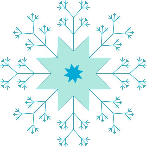 Schneeflocke, Blue Star, Eis und Schnee – Vektorgrafik