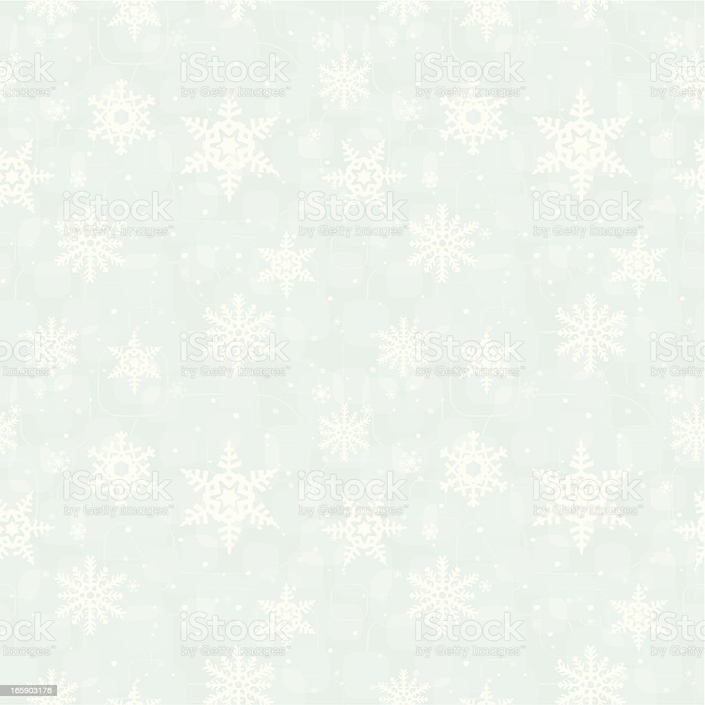 Snowflake bokeh blue seamless pattern royalty-free stock vector art